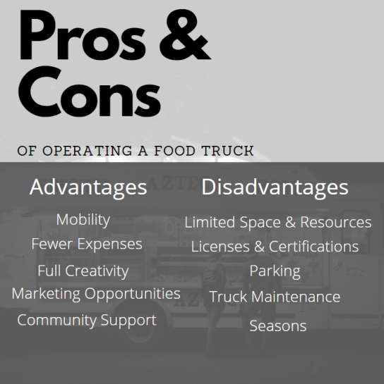 Pros and Cons Food Truck
